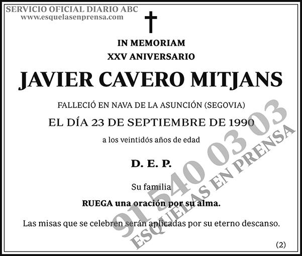 Javier Cavero Mitjans
